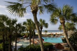 Swimming pools at Hilton Head Holiday Inn Oceanfront