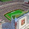 Construction has begun on a new football stadium for the NFL's San Francisco 49ers.  Located on the north side of Santa Clara, the $1 billion stadium is 40 miles southeast of the 49ers current home, Candlestick Park.  The stadium is scheduled to be ready in 2014.