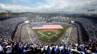 While there are no new stadiums opening for the 2013 Major League Baseball season, one of the league's older venues – Dodger Stadium in Los Angeles – received $100 million...
