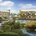 Featuring a '50's vibe, Universal's Cabana Bay Beach Resort in Orlando is somewhat open - more rooms and amenities will be added between now and the Grand Opening on July 1st