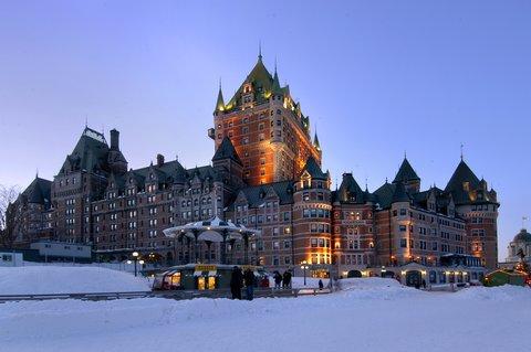 Exterior photo of the Fairmont Le Chateau Frontenac in Quebec City