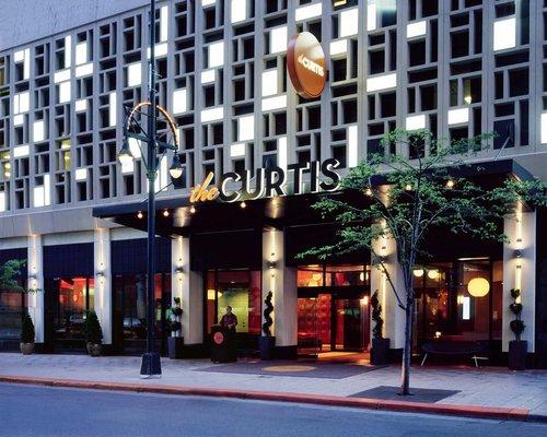 Exterior photo of The Curtis in Denver, Colorado