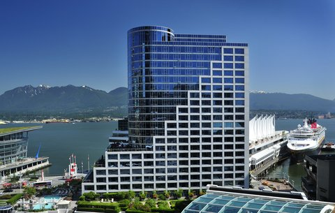 Exterior photo of The Fairmont Waterfront in Vancouver, BC, Canada