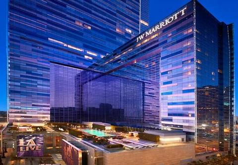 Photo of exterior of JW Marriott Los Angeles LA LIVE