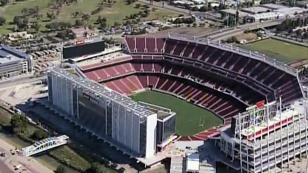 Aerial photo of Levi's Stadium in Santa Clara, California, home of the San Francisco 49ers