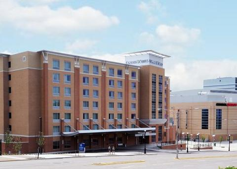 Exterior photo of Cambria Suites at Consol Energy Center in Pittsburgh