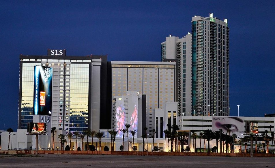 Photo of exterior of the new SLS Las Vegas Hotel and Casino