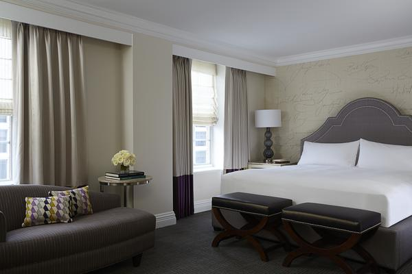 Photo of renovated guest room at Mayflower Renaissance in Washington, DC