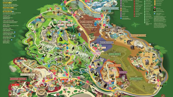 Top Hotels Between San Diego Zoo And SeaWorld TheRealPlaces - San diego zoo map