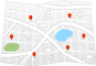 Map of hotels in Cherry Tree