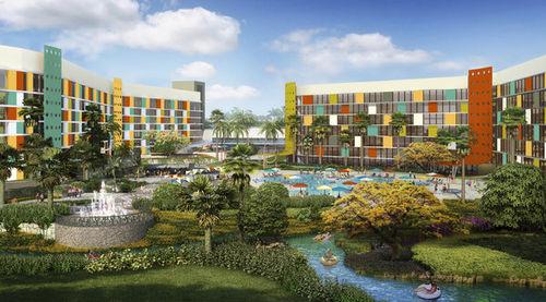 Exterior of Universal's Cabana Bay Beach Resort in Orlando