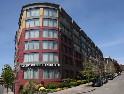 Photo of exterior of Homewood Suites Seattle Downtown