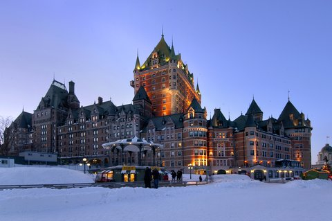 Exterior photo of the Fairmont Le Chateau Frontenac in Quebec City