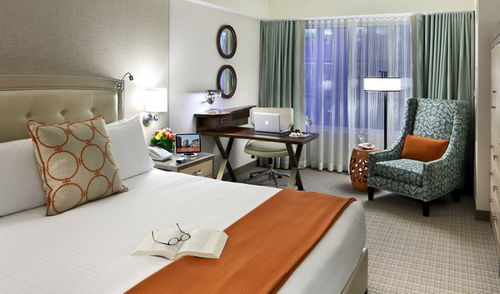 Photo of guest room at Seaport Boston Hotel