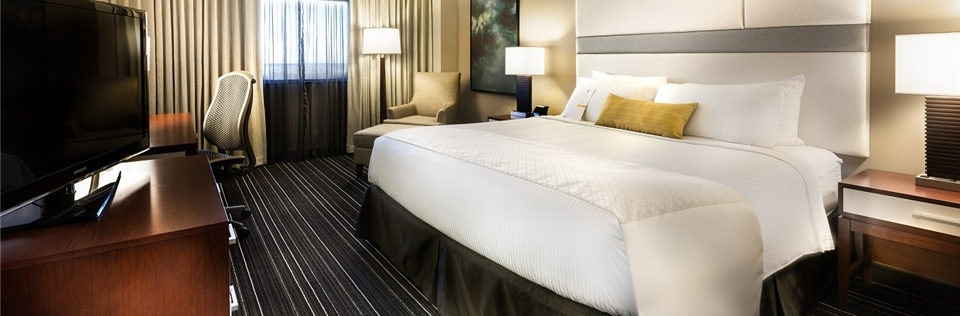 Photo of guest room at the Wyndham Houston West Energy Corridor Hotel