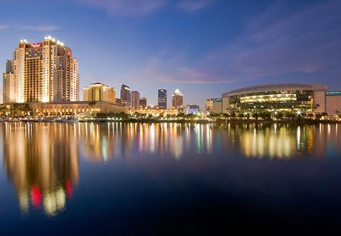 Photo of Tampa waterfront including the Tampa Marriott Waterside Hotel & Marina