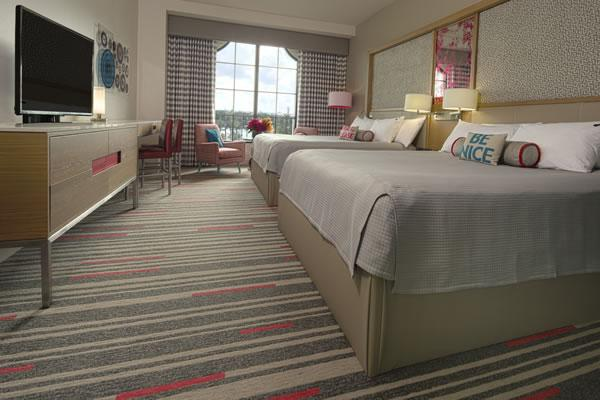 Photo of updated guest room at Hard Rock Universal Orlando