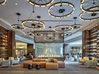 Lobby of Marriott Indianapolis Downtown