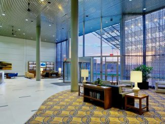 Lobby of Doubletree Hotel South Bend