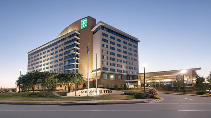 Exterior view of Embassy Suites by Hilton Huntsville Hotel & Spa