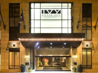 Entrance to Hotel Ivy in Minneapolis