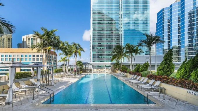 Swimming pool at Conrad Miami