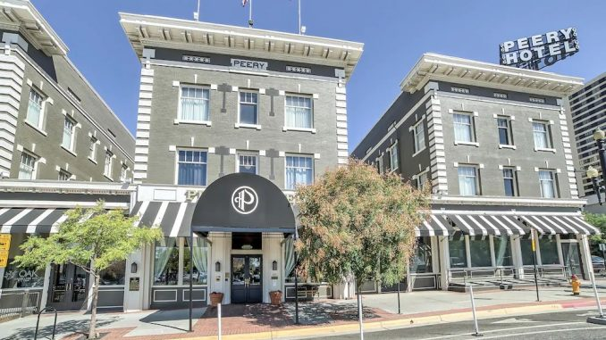 Street view of The Peery Hotel in Salt Lake City