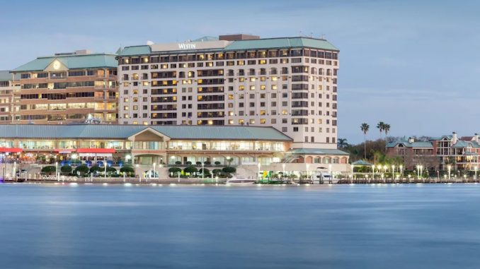 Waterside view of The Westin Tampa Waterside
